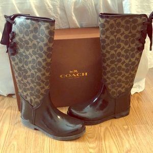 Women's coach brown Talia boots size 7